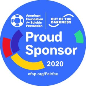 icon from American Foundation for Suicide Prevention that says Proud Sponsor 2020