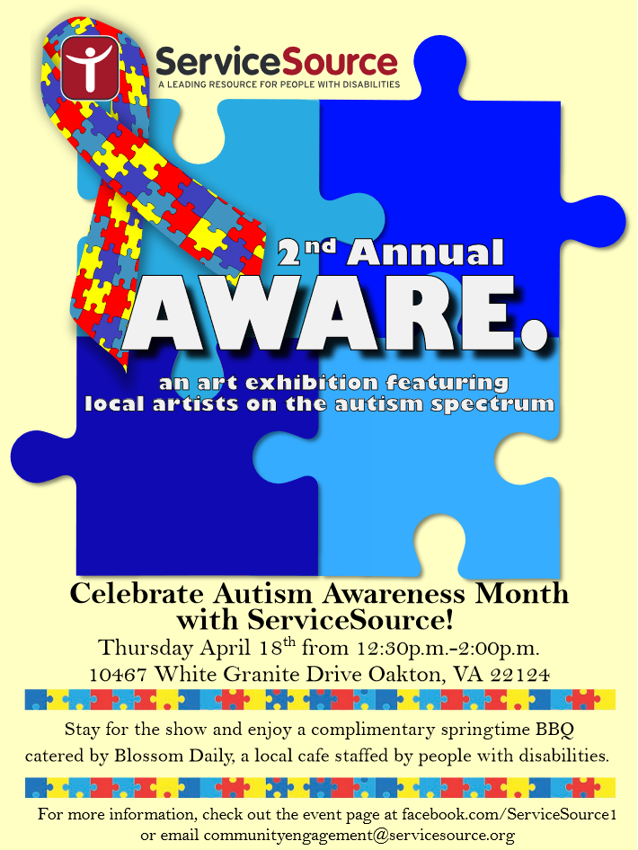 2nd Annual AWARE art show featuring local artists on the autism spectrum