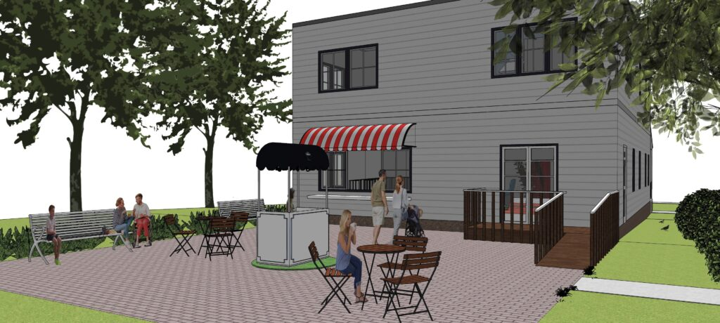 3d photo of outdoor patio