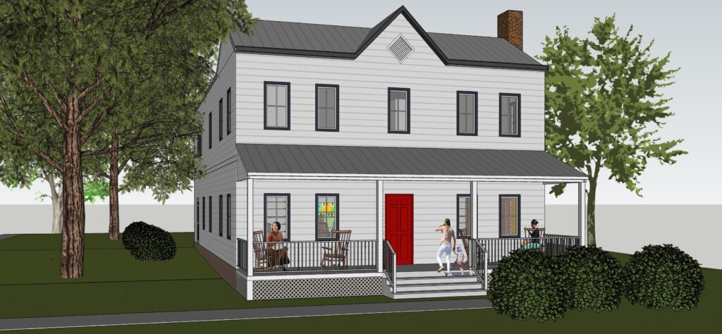 3d photo of front of house